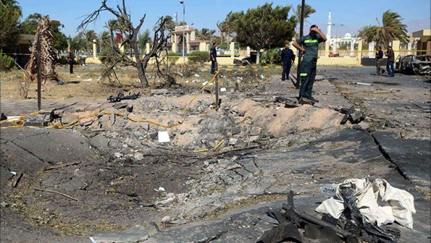 النيابة تعاين موقع تفجير شمال سيناء