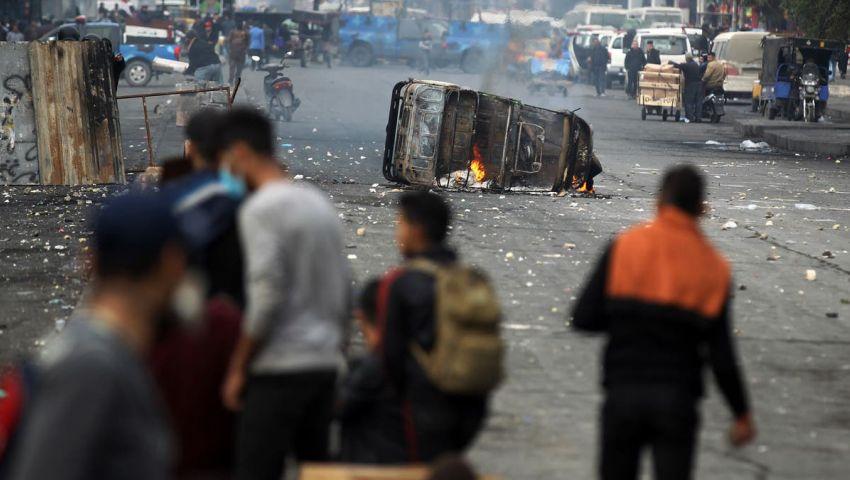 تجدد الاشتباكات في بغداد.. وإصابة 12 متظاهرًا
