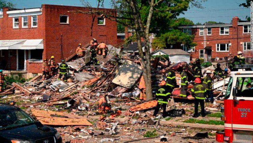 فيديو وصور.. انفجار هائل في أمريكا يسوي منازل بالأرض