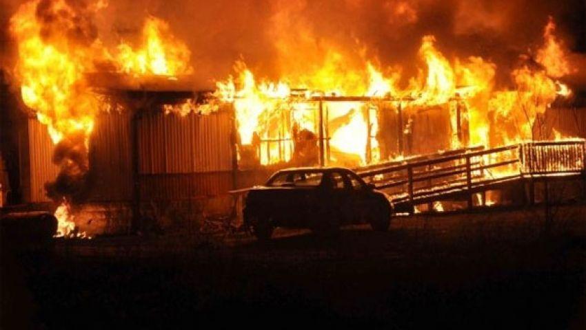 حريق هائل بمجمع الأهرام للسلع بالمنوفية