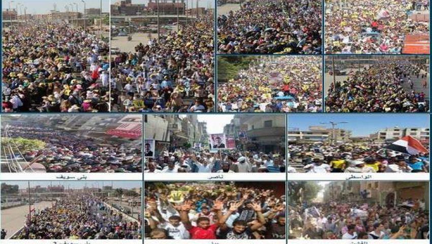 الإعلام المصري تعمد تجاهل تظاهرات أنصار مرسي
