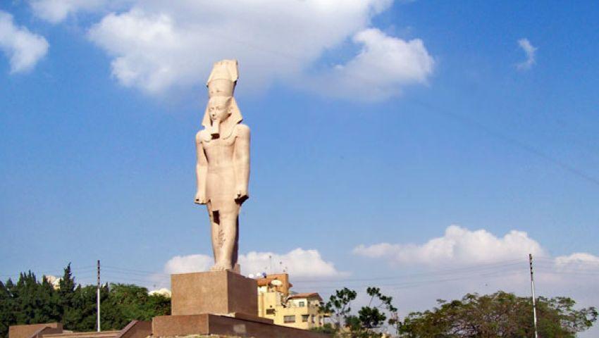 آثار المنيا تضبط تمثالاً على هيئة الملك رمسيس