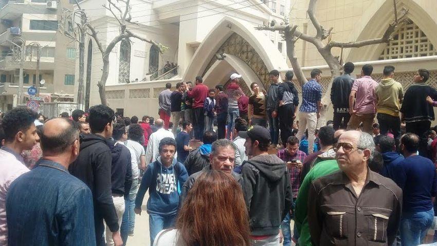تفاصيل تحقيقات النيابة وتفريغ كاميرات كنيسة ماري جرجس بطنطا