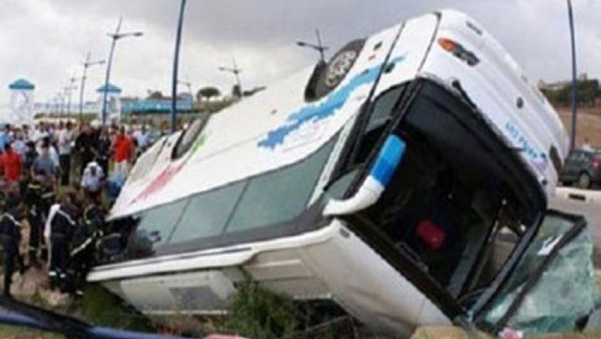 إصابة 19 في انقلاب أتوبيس بكفر الشيخ