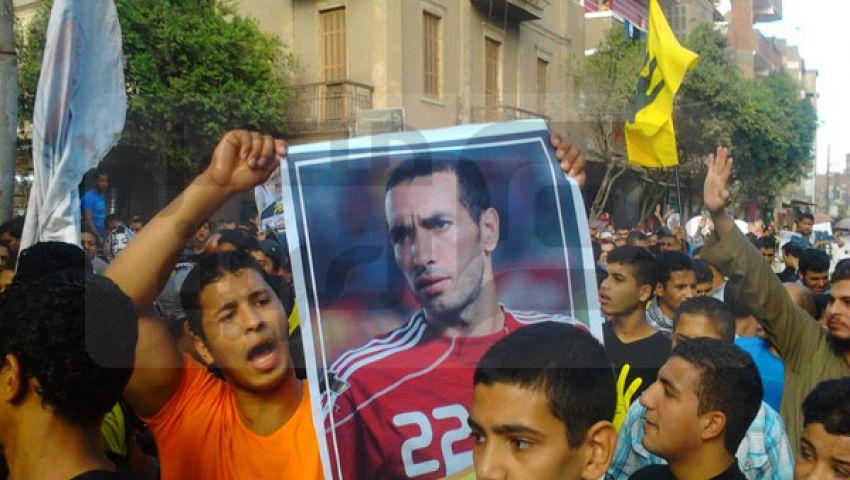 بالصور.. أبو تريكة في مسيرات بني سويف