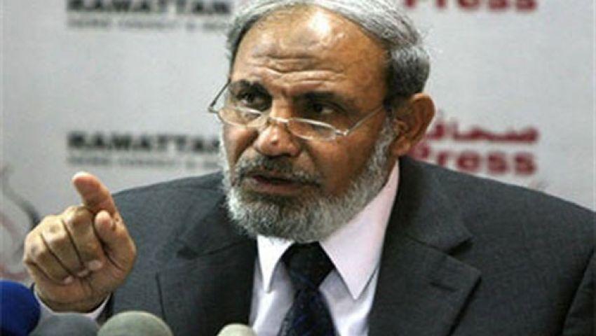 الزهار: اتهام مرسي بمنح الجنسية للفلسطينيين غير صحيح