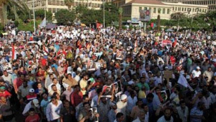 مسيرة حاشدة من جامعة القاهرة لتأييد الشرعية
