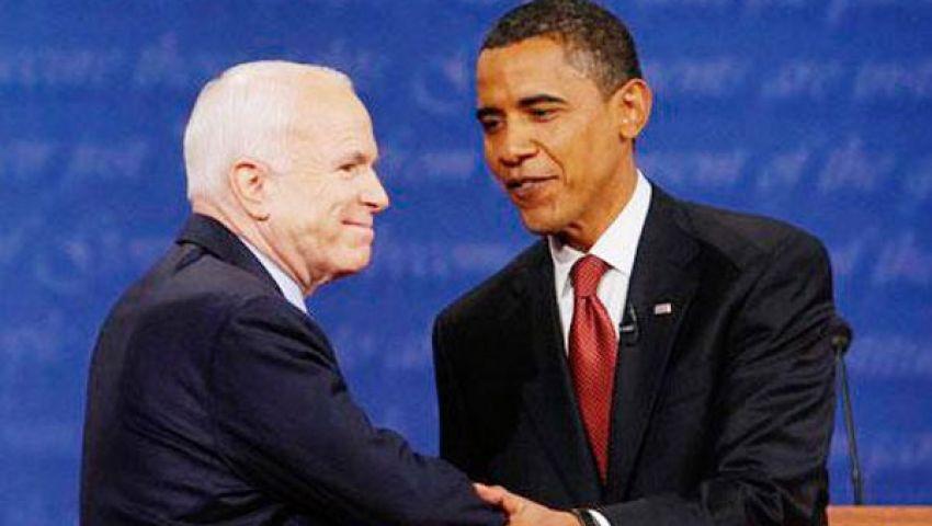 أوباما يفوز بدعم ماكين في ضرب سوريا