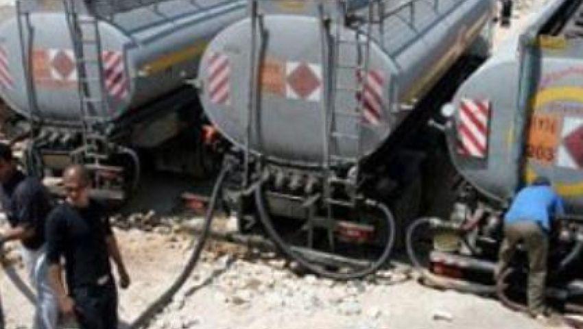 الوقود المصري يصل لغزة عبر الأنفاق