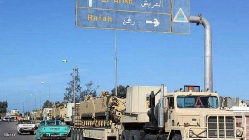 استشهاد ٤ شرطيين و٣ مواطنين وإصابة آخرين في تفجير إرهابي بالشيخ زويد