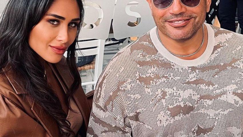 فيديو  لقطات رومانسية.. قصة عمرو دياب وأنجي كيوان