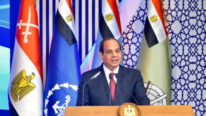 فيديو| السد والفقر المائيوالأدنى اللأجور أبرزها.. رسائل السيسي للمصريين فى ندوة القوات المسلحة