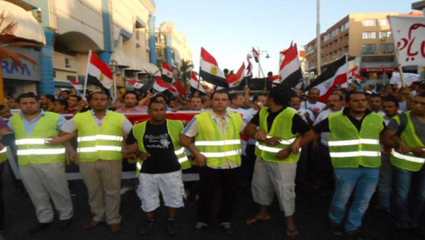 الانضباط سمة تظاهرات الغردقة المعارضة لمرسي