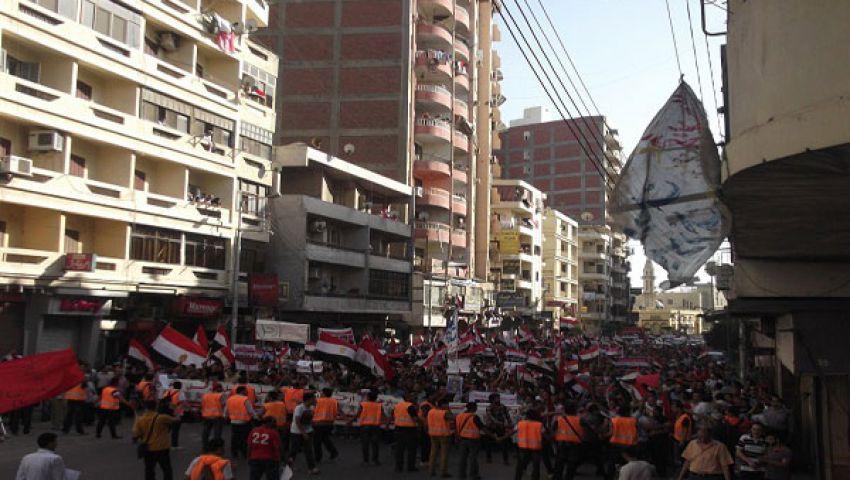 ميدان الثورة يستقبل مسيرات معارضة لمرسي بالدقهلية
