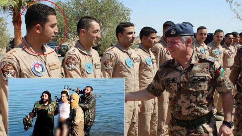 تداول صورة للضابط الذي أسرته داعش وهو مع ملك الأردن