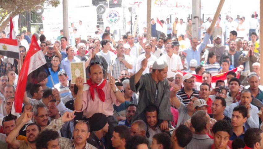 الآلاف يشاركون بمسيرات مناهضة لمرسي بالمنوفية