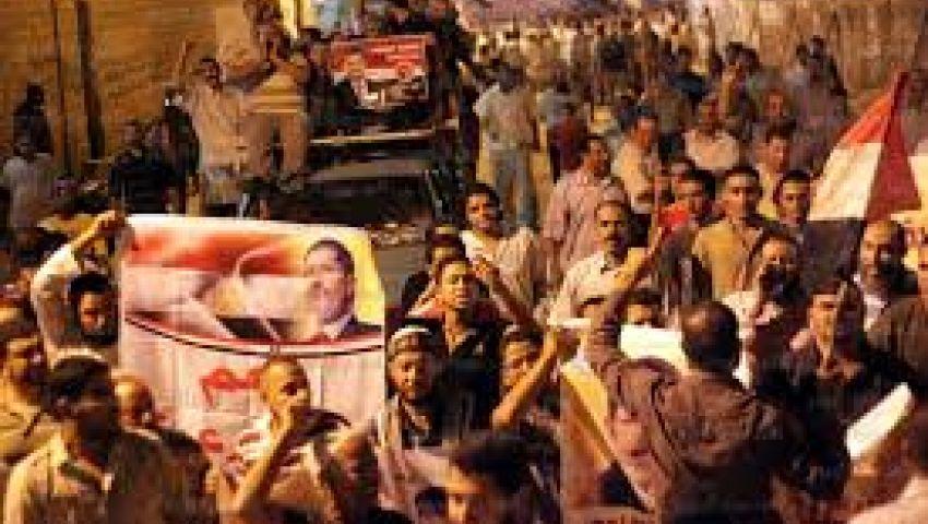 مسيرات ليلية لمؤيدي مرسي في بني سويف