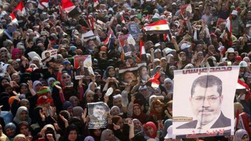 مسيرة مؤيدة لـمرسي ببني سويف