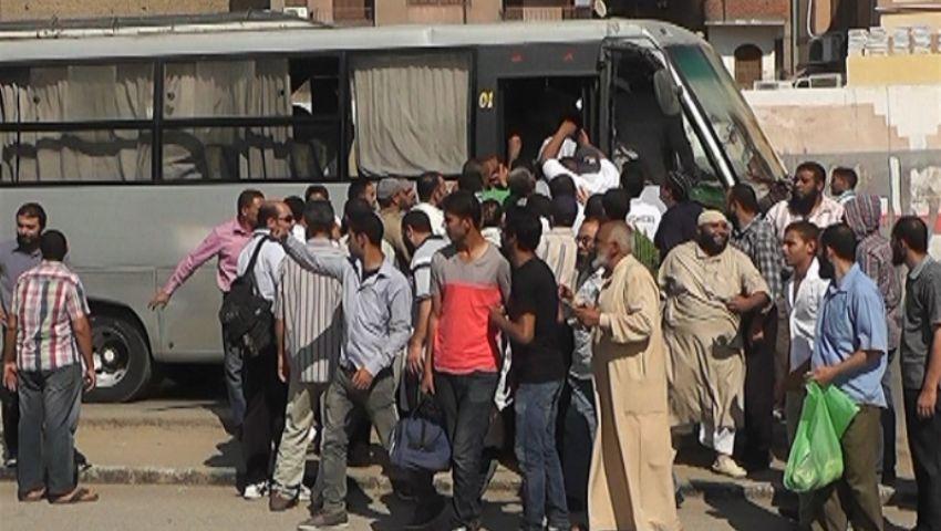 أهالي الفيوم يبدؤون الزحف على القاهرة للمشاركة بـكسر الانقلاب