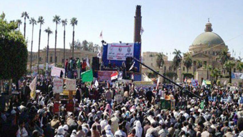 مؤيدو مرسى يتوافدون على النهضة
