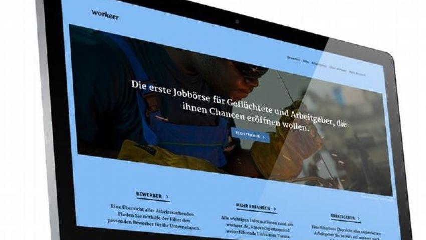 موقع إلكتروني لتوظيف اللاجئين بألمانيا