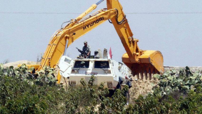 الجيش: تدمير6 أنفاق مع رفح والقبض علي 3 إرهابيين مشتبه بهم