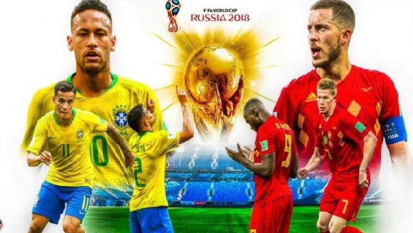 ترقب كروي على «تويتر» قبل مباراة «البرازيل وبلجيكا» بربع نهائي المونديال