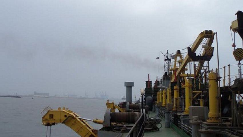 بدء تعميق الممر الملاحي لميناء دمياط