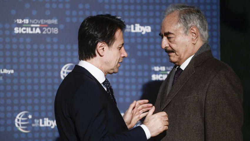 لقاء «بعيد عن الأضواء» بين حفتر ورئيس الوزراء الإيطالي