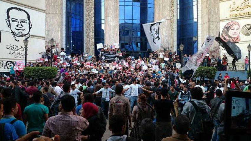 براءة متهمة من التجمهر أمام نقابة الصحفيين