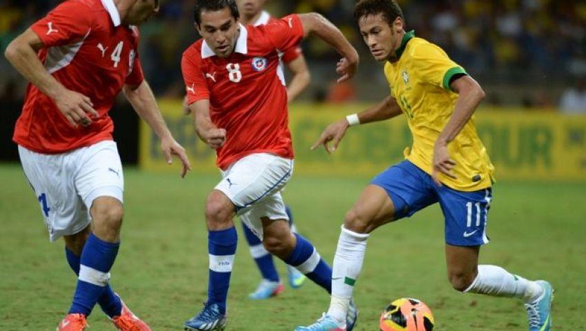 فيديو..فوز ودي صعب للبرازيل على تشيلي