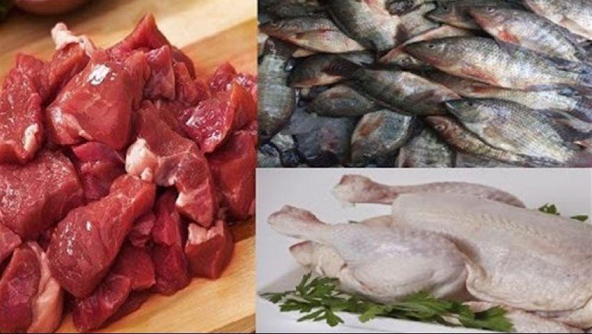 فيديو| أسعار اللحوم والأسماك والدواجن السبت 23-3-2019