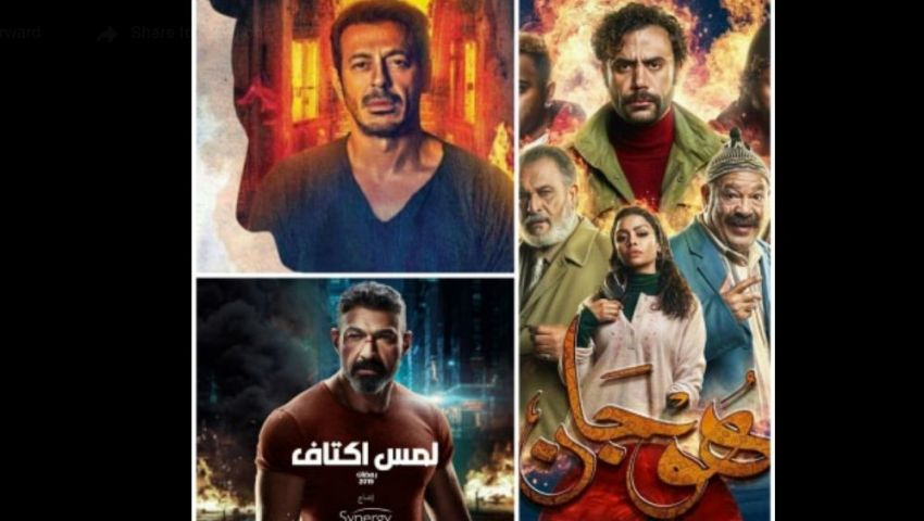 بالصور.. النيران تشعل المنافسة بين النجوم في رمضان 2019