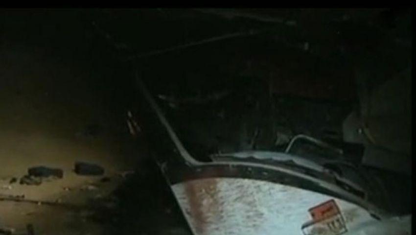 سائق النقل أراد التهرب من سداد كارتة فتسبب في الحادث