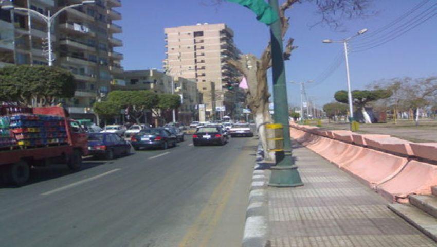 محافظة المنيا تعيد فتح طريق الكورنيش