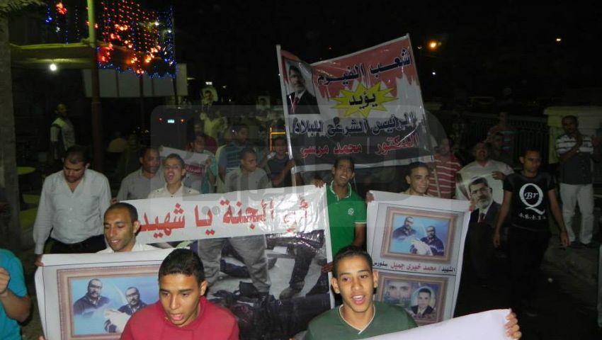 مسيرة حاشدة في الفيوم للتنديد بمجزرة المنصورة