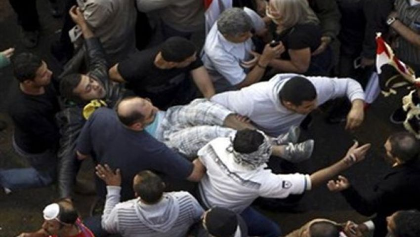 اشتباكات بين معارضي ومؤيدي الرئيس بكفر حجازي بالمحلة