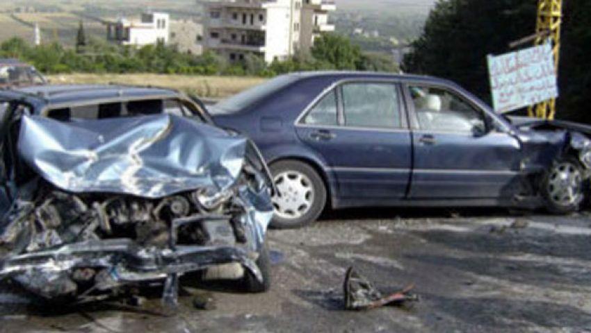 مصرع 4 وإصابة 10 في المنيا بحادث سير