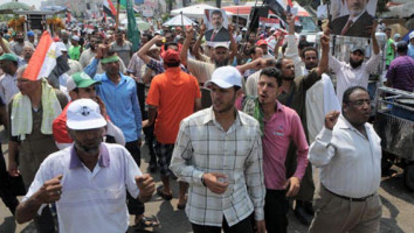 انطلاق مسيرتين من رابعة للحرس الجمهوري وصلاح سالم