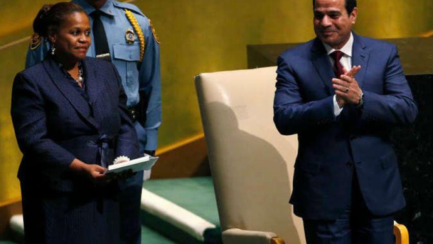 خطاب السيسي بالأمم المتحدة.. رقي دبلوماسي وتوتر لغوي