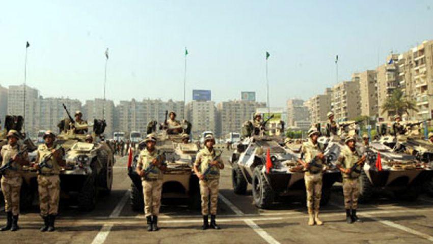 قائد العسكرية المركزية يتفقد عناصر التأمين بالقاهرة