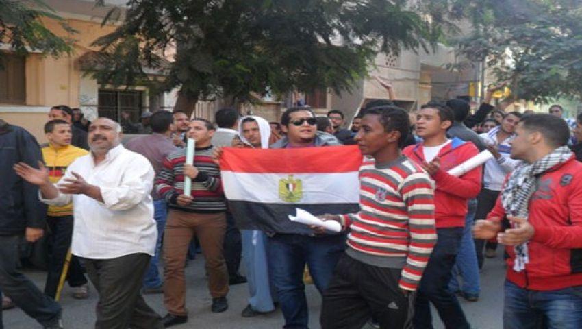مظاهرات مؤيدة وأخرى معارضة ببني سويف