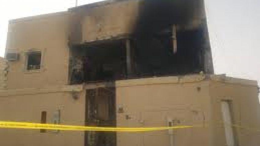 16 مصابًا في حريق بمنزل لتخزين الوقود بالفيوم