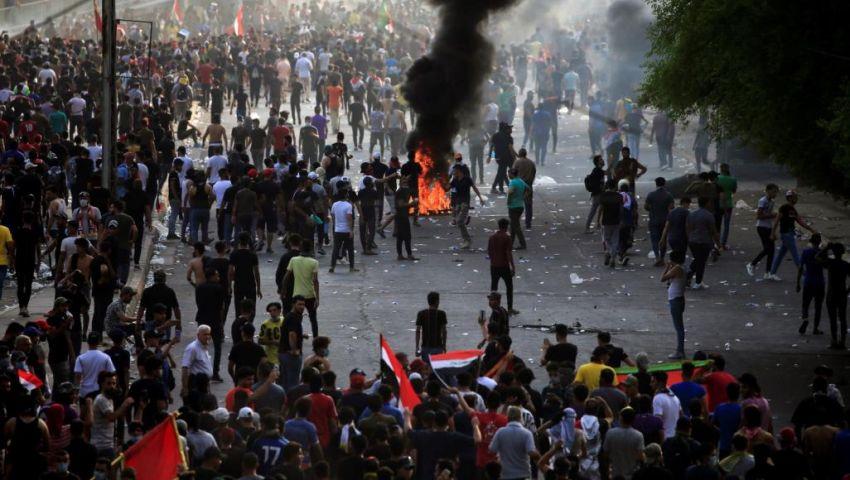 احتجاجات العراق.. مقتل 11 متظاهرًا «حرقًا»