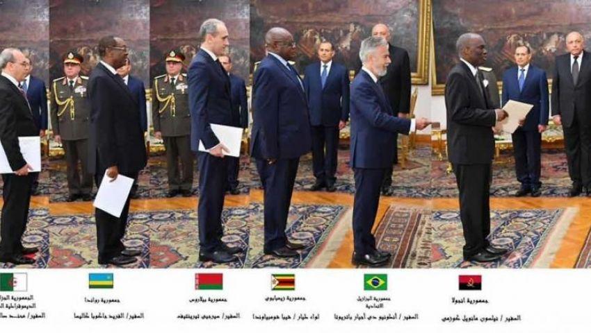بالأسماء.. تعرف على السفراء الجدد بمصر
