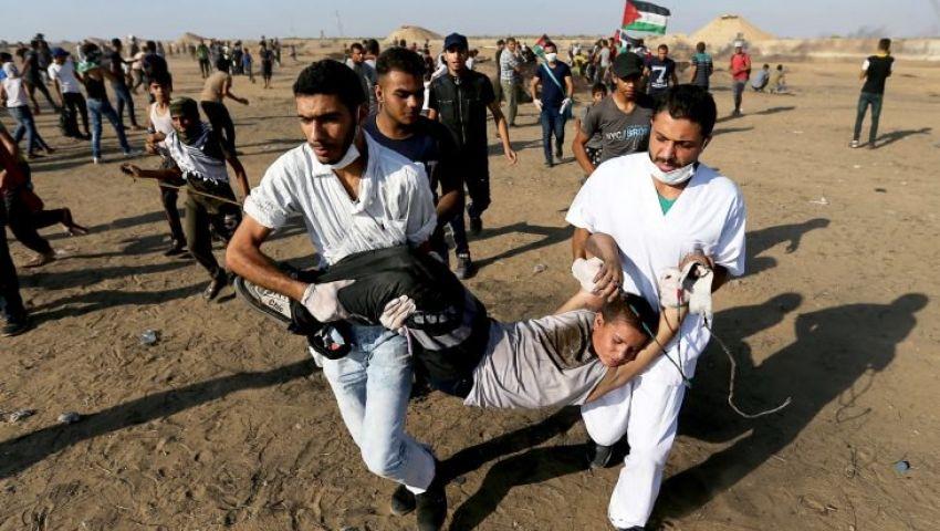 فيديو: برصاص الاحتلال.. إصابة 56 فلسطينيا شرقي غزة