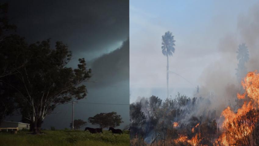 إعصار تريفور يجتاح أستراليا.. وطوارئ بكاليفورنيا لبدء موسم حرائق الغابات
