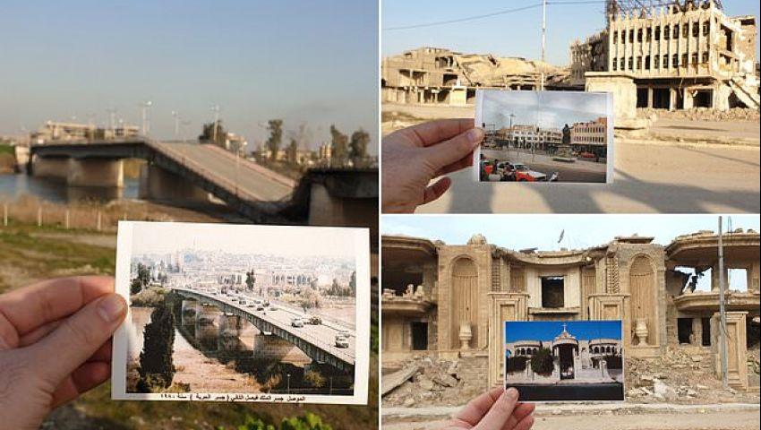بالصور| معالم الموصل قبل وبعد سيطرة داعش
