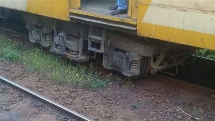 انحراف قطار «القاهرة – أبو قير» عن القضبان.. والسكة الحديد توضح السبب