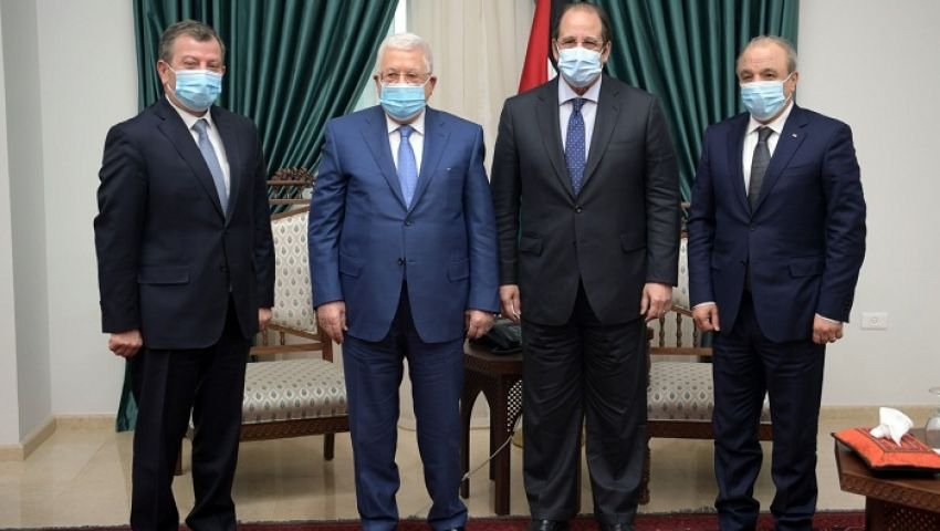 تفاصيل لقاء رئيسي المخابرات المصرية والأردنية بمحمود عباس